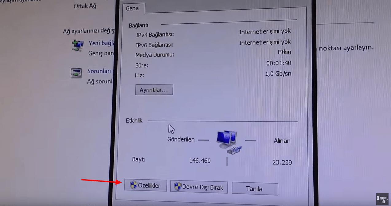 IP Tanımlama - Hızlı Dosya Aktarımı - İki Bilgisayar Arasında Hızlı Dosya Aktarımı
