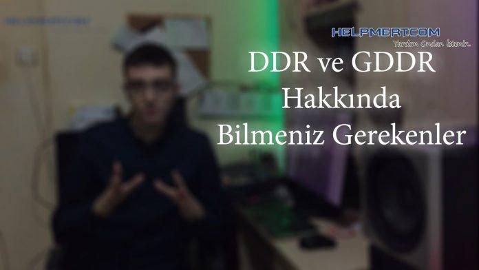 DDR ve GDDR Arasındaki Farklar