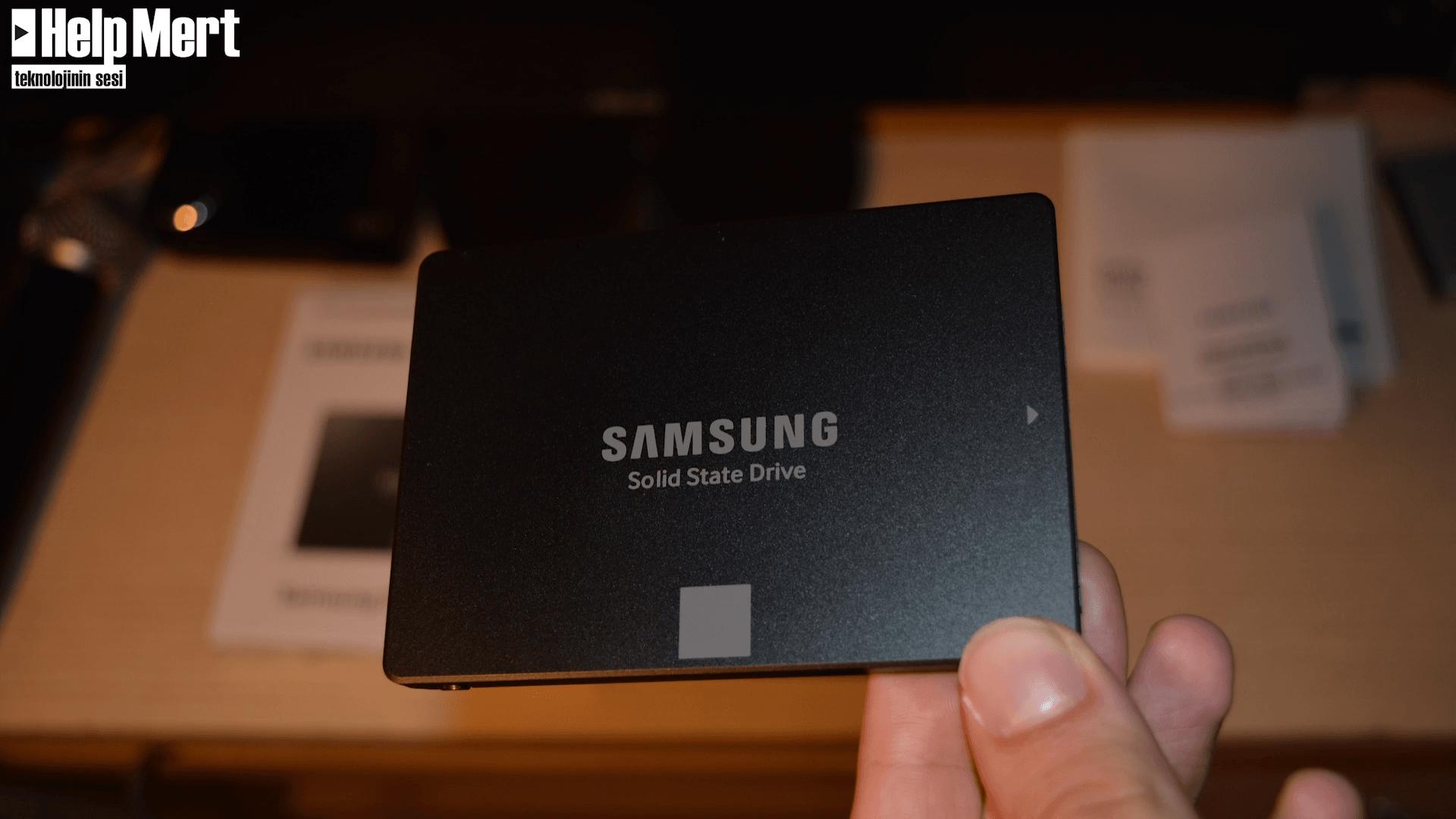 Samsung 750 Evo Kutu Açılışı ve Performans Testi