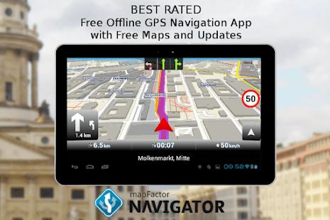 MapFactor GPS Navigation Maps Ücretsiz Navigasyon Uygulaması
