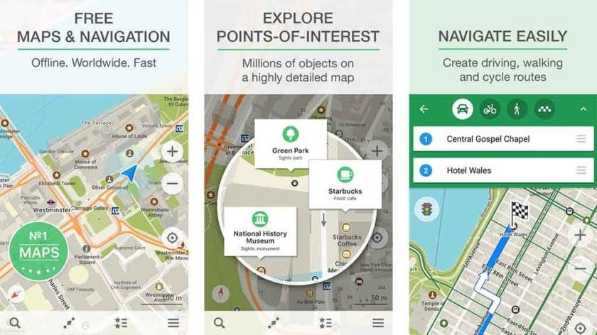 Maps.Me Ücretsiz Çevrim Dışı Navigasyon Uygulaması