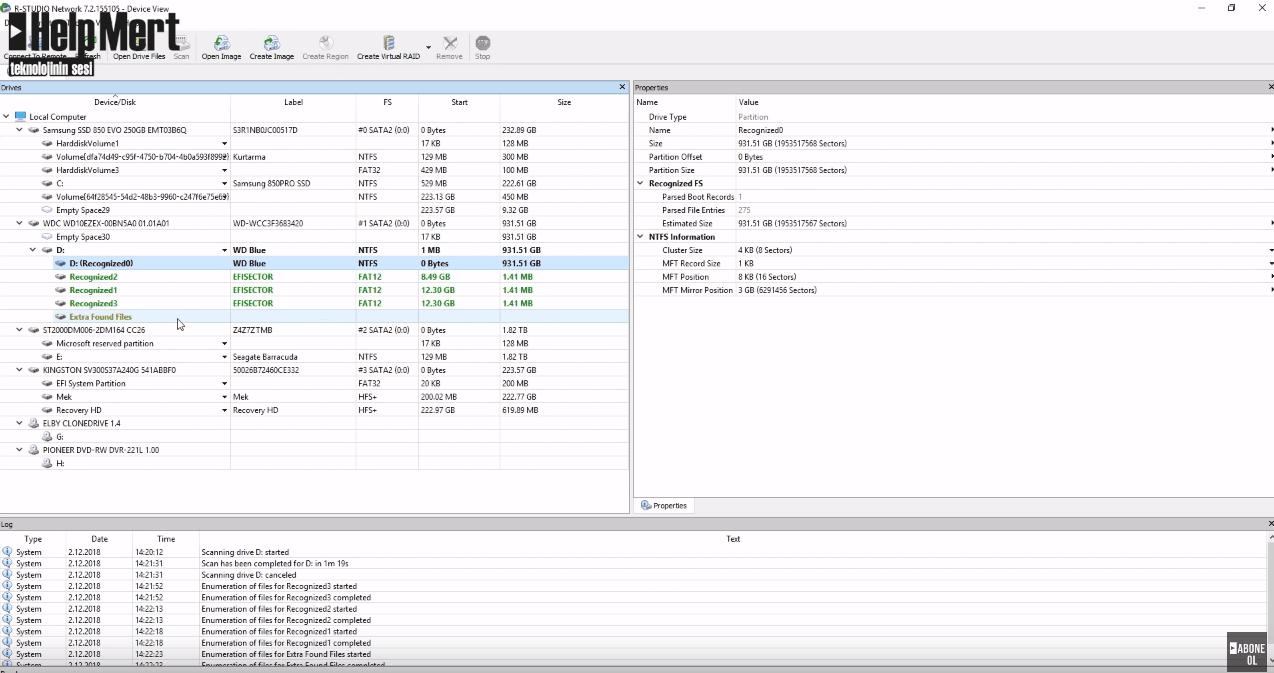R-STUDIO Kullanarak Veri Kurtarma | Silinen Dosyalar Nasıl Geri Getirilir?|Silinen Veri Nasıl Kurtarılır?